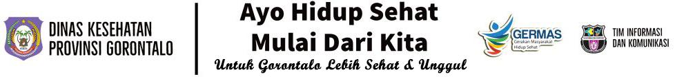 Website Resmi Dinas Kesehatan Provinsi Gorontalo